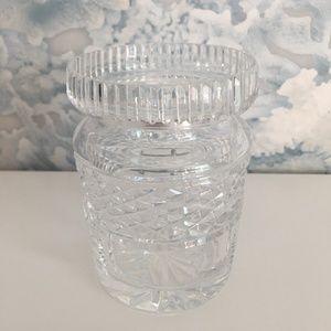 Sparkling Crystal Waterford Jam/Honey Jar